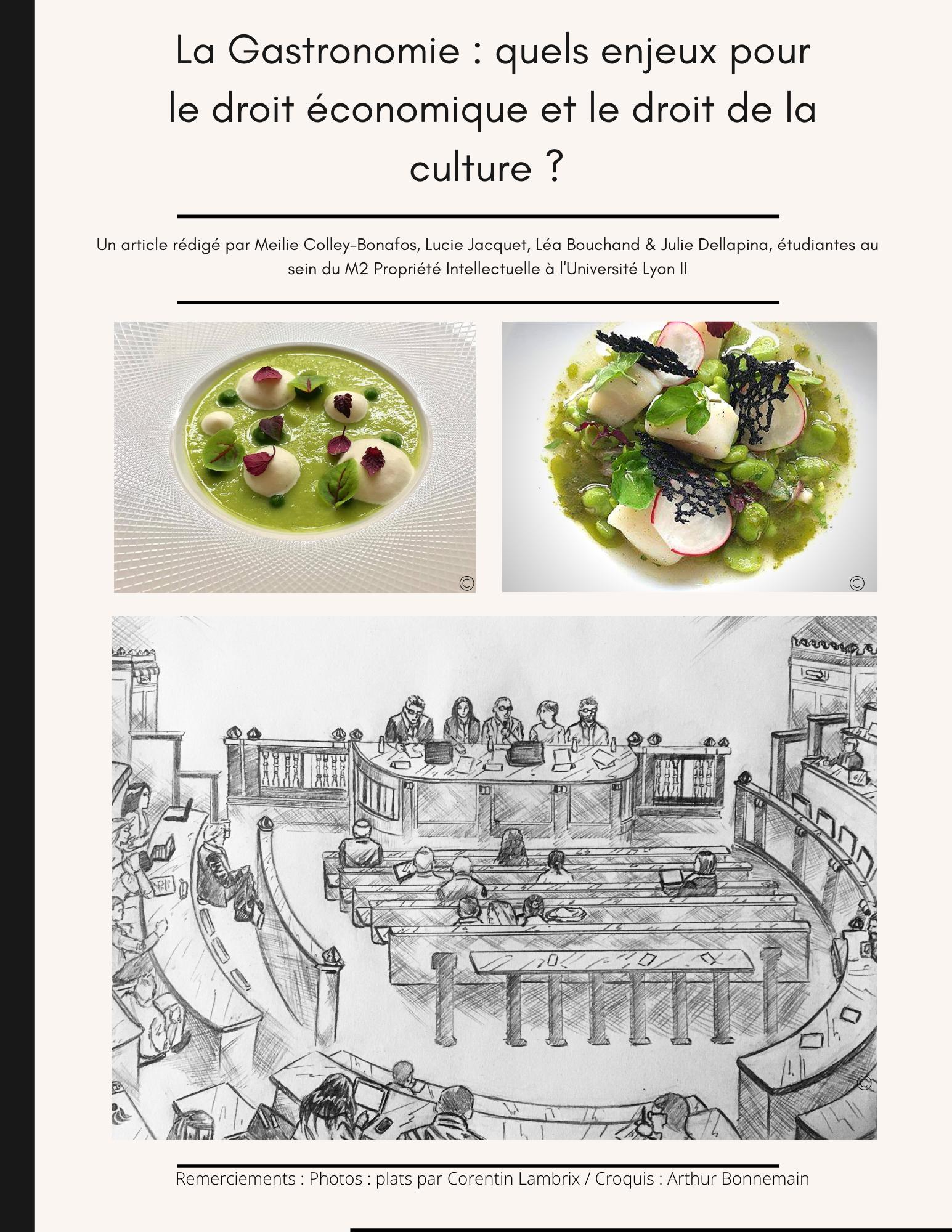 La Gastronomie : quels enjeux pour le droit économique et le droit de la culture